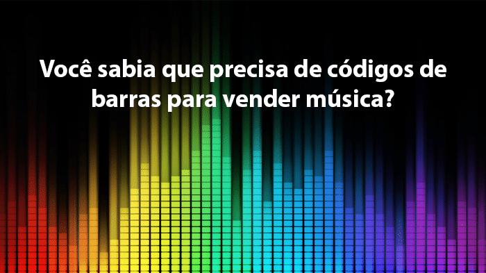 Codigo de barras vender Música