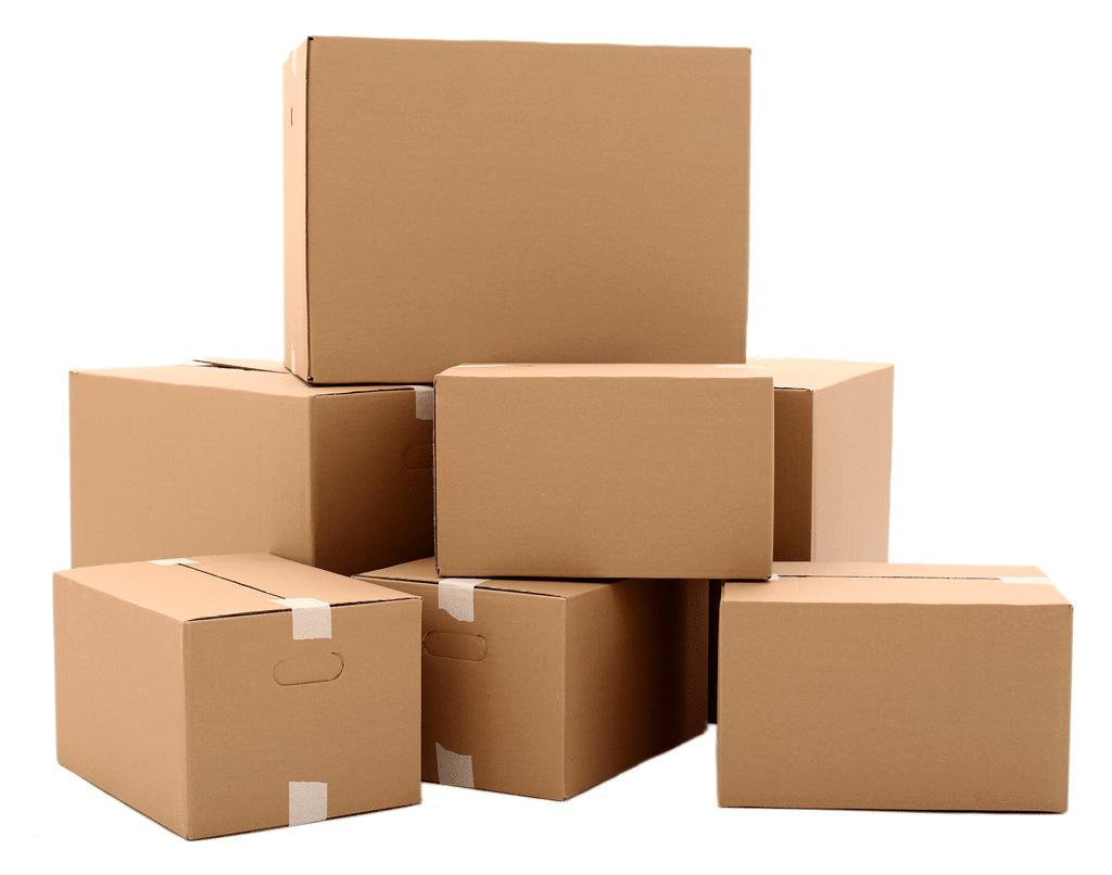 pilha de embalagens personalizadas