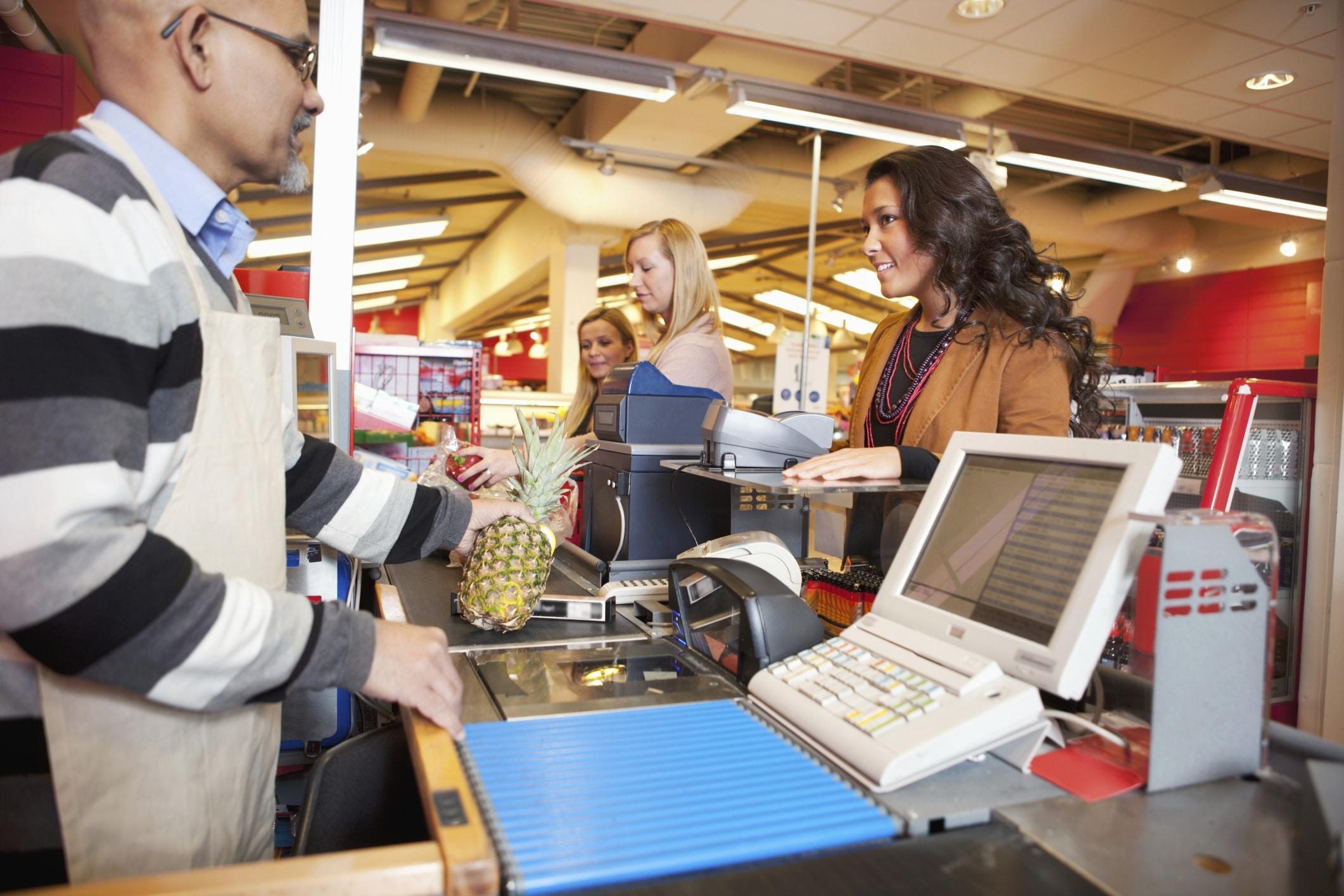 comprando produtos no supermercado com código de barras